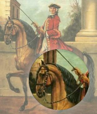François Robichon de la Guérinière - in Anlehnung gerittenes Pferd